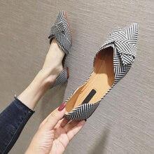 Comemore 2021 primavera verão moda apartamentos para sapatos femininos sapatos de barco apontou toe casual deslizamento-on sapatos senhoras elegantes calçados