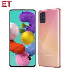 Глобальная версия Samsung Galaxy A51 A515F/DSN мобильный телефон 6 ГБ ОЗУ 128 ГБ ROM Octa Core 6,5 дюйм1080x2400 4000 мА/ч, 4 камеры NFC Android10