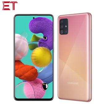 Перейти на Алиэкспресс и купить Глобальная версия Samsung Galaxy A51 A515F/DSN мобильный телефон 6 ГБ ОЗУ 128 Гб ПЗУ Восьмиядерный 6,5 дюйм1080x2400 4000 мАч 4 камеры NFC Android10