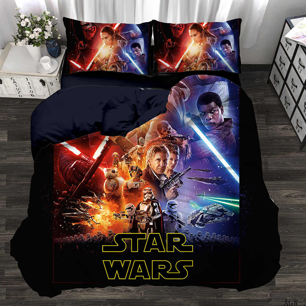 Star Wars Set 3D digital printing quilt set bedding three piece set four piece set