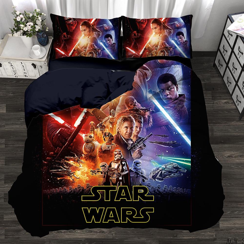 Star Wars Set 3D digital printing quilt set bedding three piece set four piece set Bedding Sets     - title=