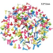 100 шт 5,5X11 мм круглые металлические штифтики для скрапбукинга аксессуары для рукоделия украшения застежка для украшения обуви
