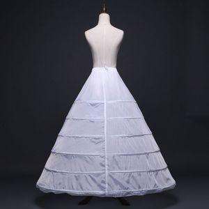 Image 3 - Womens Full Length Witte Hoepelrok Petticoat A lijn 6 Hoops Rok Slips Lange Onderrok voor Wedding Dress Bridal Baljurk