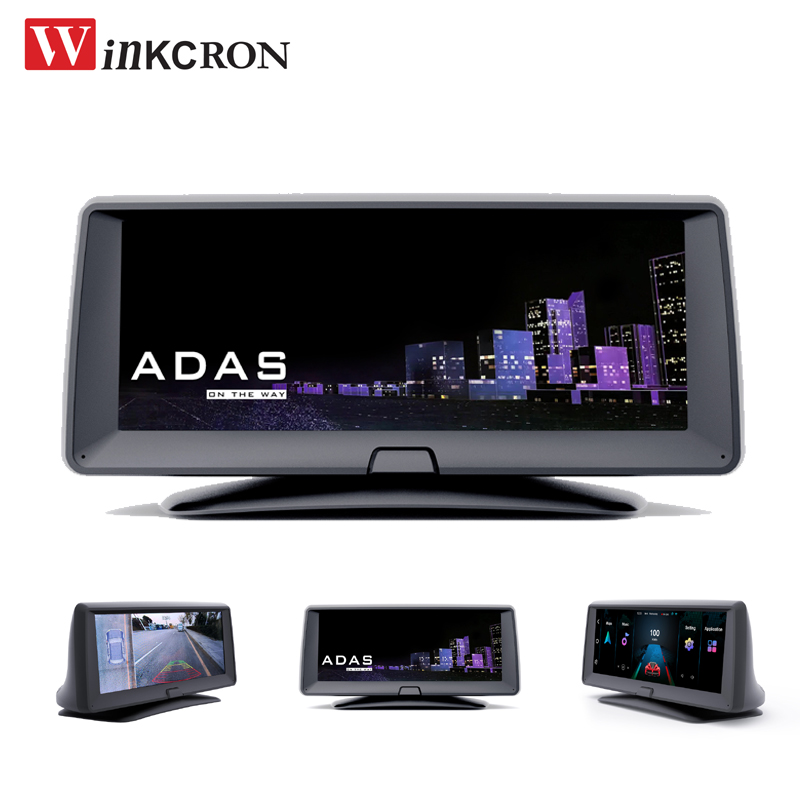 """6.86"""" IPS Touch ADAS Car GPS navigation Android map Full HD 1080P Dual dash cam Quad-Core 16GB Wifi DVR Camera video Recorder"""