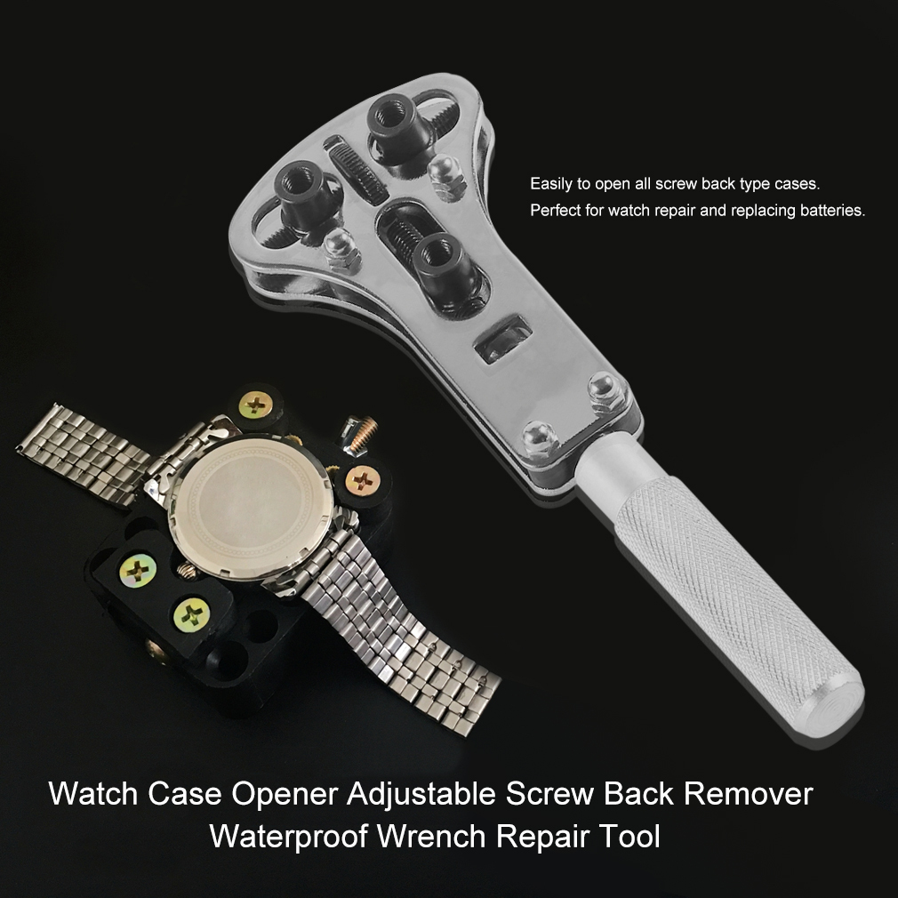Waterproof 18 Pins Replaceabl Parts With Steel Watch Back Case Opener Adjustable Screw Back Remover Wrench Repair Tool Sets