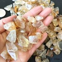 100 г натуральный цитрин желтый кварцевый камень полированный гравий образец натуральные камни и минералы