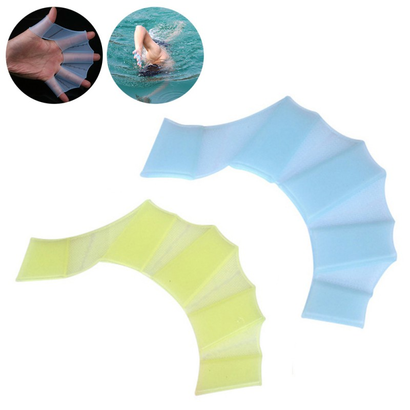 1pcs Silicone Swim Gear Fins Hand Web Flippers Training Diving Gloves Webbed Gloves For Women Men Kids Swimming Tool