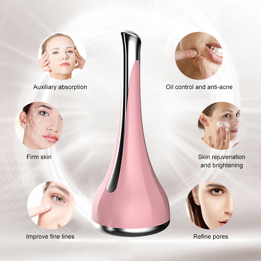 Microcurrent Mini Vibration Face Massager For Women Face Lifting Wrinkle Remover Relieve Dark Circles Beauty Skin Care Device