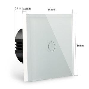 Image 5 - Bingoelec 1 Gang 1 Way WiFi Smart Switch Crystal Glass Panel Wall Light Switch Smart Home Automation Wireless Work For Tuya APP