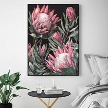 Настенный плакат в стиле розового цветка модульный минимализм
