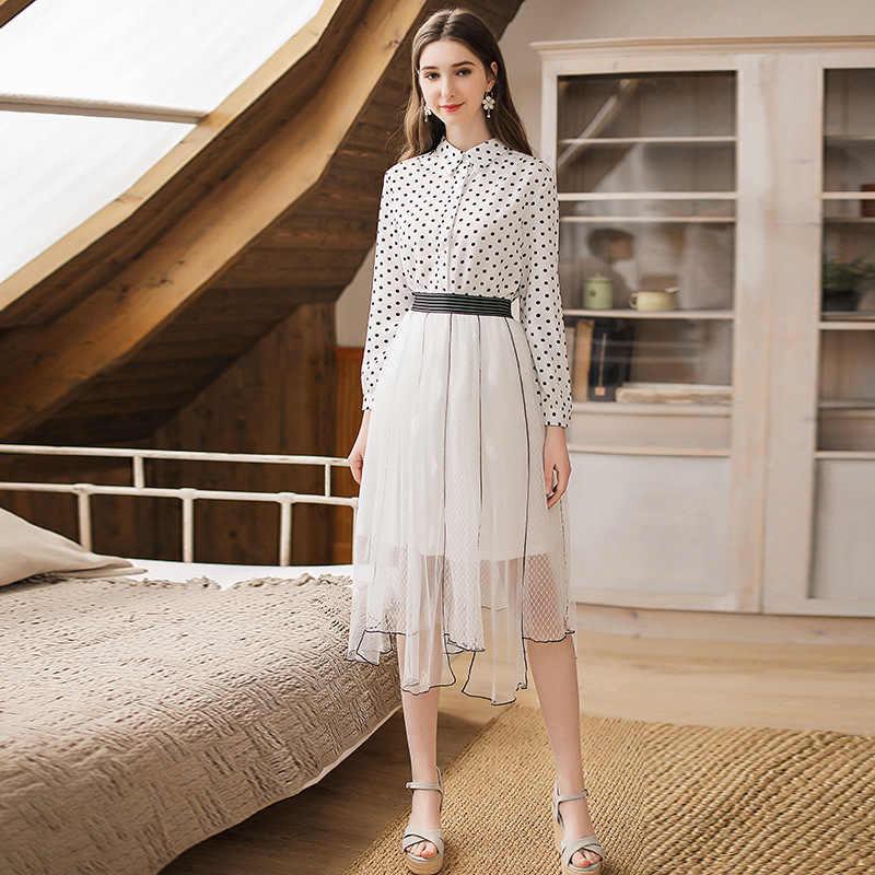 Lange Rokken Vrouwen Zomer Mesh Rok Streetwear Party Maxi Rokken Witte Rok Lente Kleding Faldas Mujer Moda LWL1647