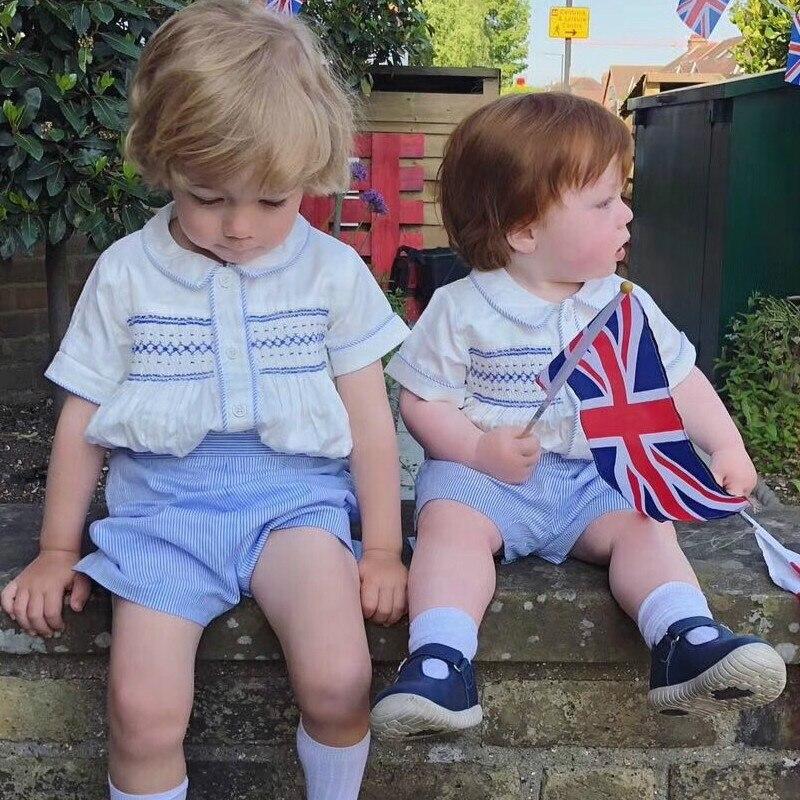 2020Summer New Arrivals Baby Boys Gentlemen Boy High Quality Custom Birthday Wedding Party Clothes Spain British Handsome