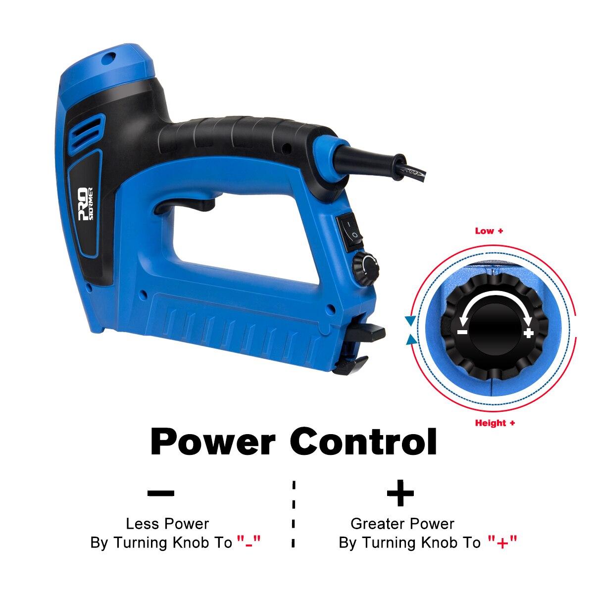 Tools : 2000W Electric Nail Gun 220V-240V Nailer Stapler Woodworking Electric Tacker Furniture Staple Gun Power Tools by PROSTORMER
