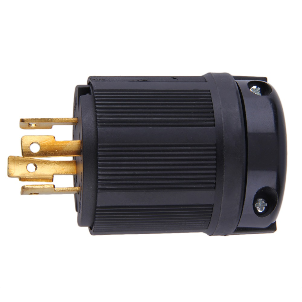 MALE L14-30P 220 POWER COER END 4-PRONG TWIST LOCK GENERATOR PLUG 30A 125//250V