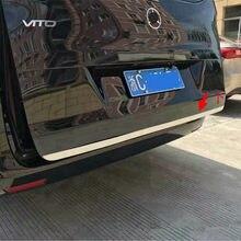 Autocollant de protection pour coffre arrière de voiture, en acier inoxydable, adapté à la Mercedes Benz VITO 2017