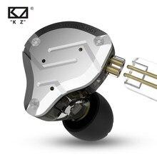KZ ZS10 Pro 1DD 4BA Metal Headset Hybrid Unit HIFI Bass Earbuds In Ear Monitor Sport Noise Cancelling Earphones KZ ZAX ZSX ASX