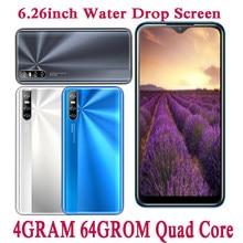 A20s 4G RAM Android 13MP Smartphones Quad Core Original 64G ROM 2sim Handys Gesicht ID Entsperrt 6.26