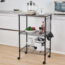 【US Warehouse】 3-Tier Kitchen Utility Cart(Kitchen shelf cart) cheap