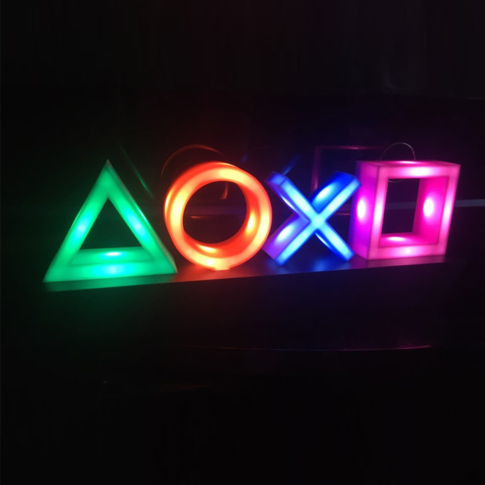 Voice Control Game Icon Light Acrylic Atmosphere Neon Dimmable Bar Atmosphere Lampara Club KTV Decorative Light Dropshipping 1