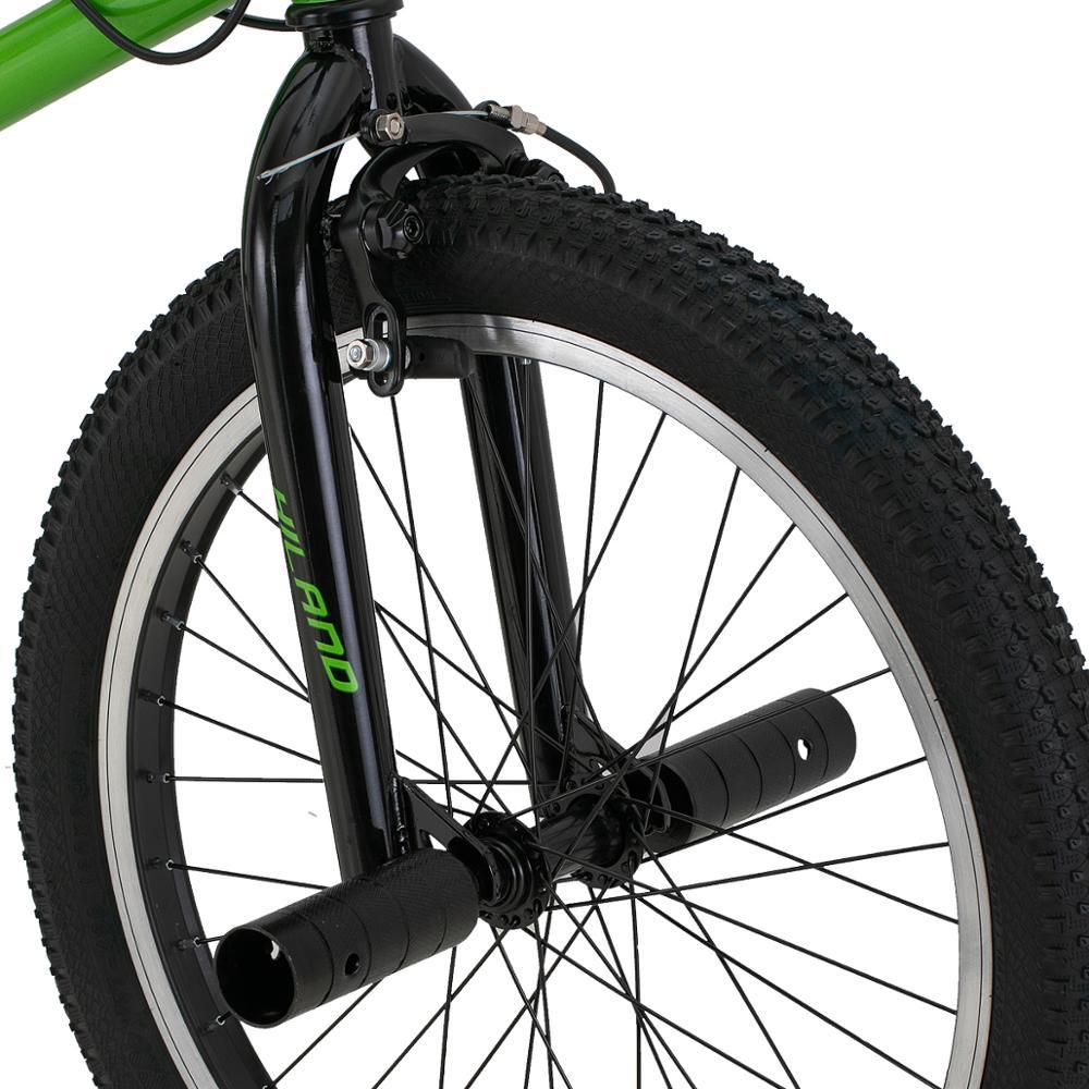 HILAND 10 Color&Series 20'' BMX Bike Freestyle Steel Bicycle Bike Double Caliper Brake Show Bike Stunt Acrobatic Bike 6