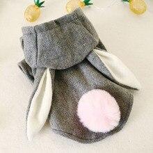 Dog-Outfit Clothing Coat Cat-Costume Puppy Rabbit-Ear Small Winter Medium Autumn