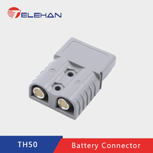 TELEHAN 10pcs/lot  Anderson 600V 50A 6 AWG Connector, plug, battery terminal, solar connector, Handle, Dustyproof cover