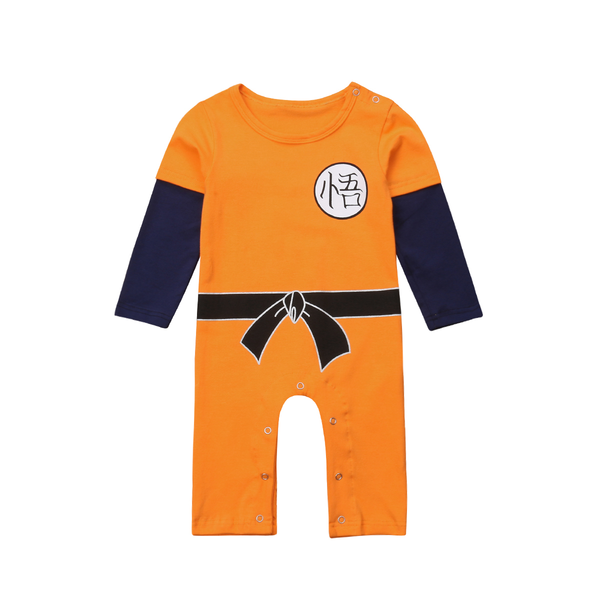 Anime One Piece Symbol Newborn Jumpsuit Baby Bodysuit Clothes Long Sleeve Romper