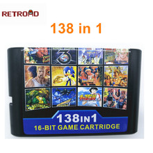138 in 1 สำหรับเกม 16 บิตสำหรับ Sega Genesis MegaDrive Street Rage 1 2 3 Golden ขวาน 1 3 Thunder Force