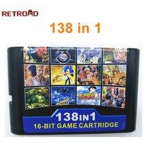 138 in 1 Per 16 bit Cartuccia di Gioco per Sega Genesis MegaDrive con Street Of Rage 1 2 3 Doro ascia 1 3 Thunder Force