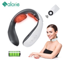 Neck Massager Heating Electric Massager For Neck Relief Pain Tool Promote Blood Circulation Muscle Stimulator Relaxation Machine