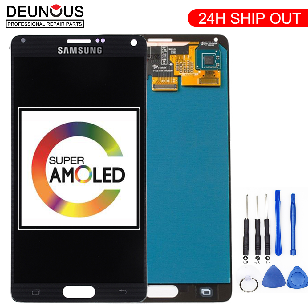 ORIGINAL 5.7''LCD Replacement For SAMSUNG Galaxy Note 4 Note4 N910 N910C N910A N910F N910H LCD Display Touch Screen Digitizer