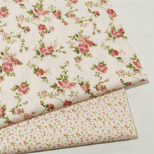 Floral Cotton Fabric Printed Bed Sheet Cloth For DIY Sewing Craft Cotton Material