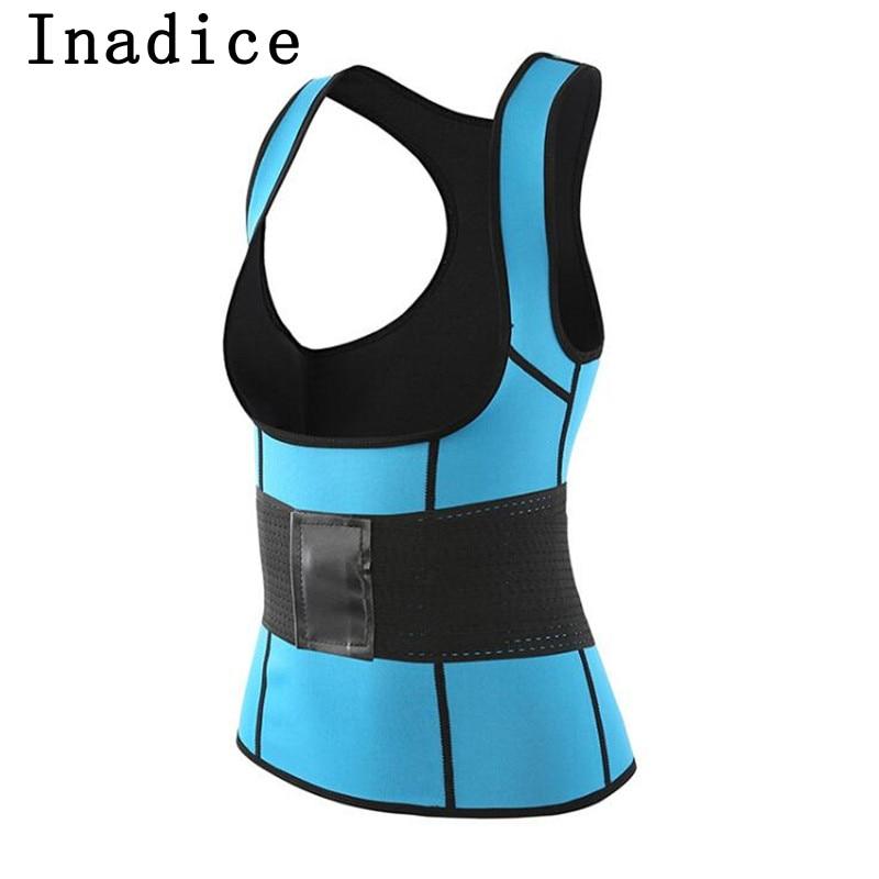 Inadice Neoprene Corset Belt Female Cummerbunds Solid Elastic Belt Fashion Slimming Belt Clothing Women Top Tummy Shaper Clothes