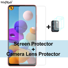 2Pcs Screen Protector For Samsung Galaxy A21S Glass A51 M21 A31 A41 A71 M31 M30S A50 A01 C5 Tempered Glass Protective Phone Film