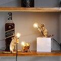 Moderne Mini Harz Maus LED Tisch Lampen für Wohnzimmer Schlafzimmer Nordic Stand Schreibtisch Licht Leuchte Loft Wohnkultur Studie leuchten