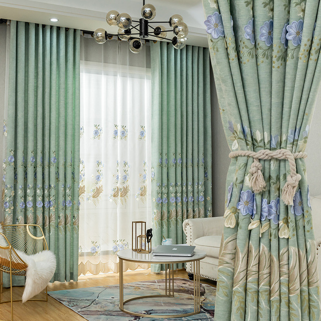 New Elegant Nordic Style Curtain for Living Room and Bedroom
