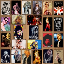 Carteles de estaño de música de Rock, placa de Metal, Bar de pared, restaurante, decoración artística para el hogar, póster de hierro Vintage, DU-7507B