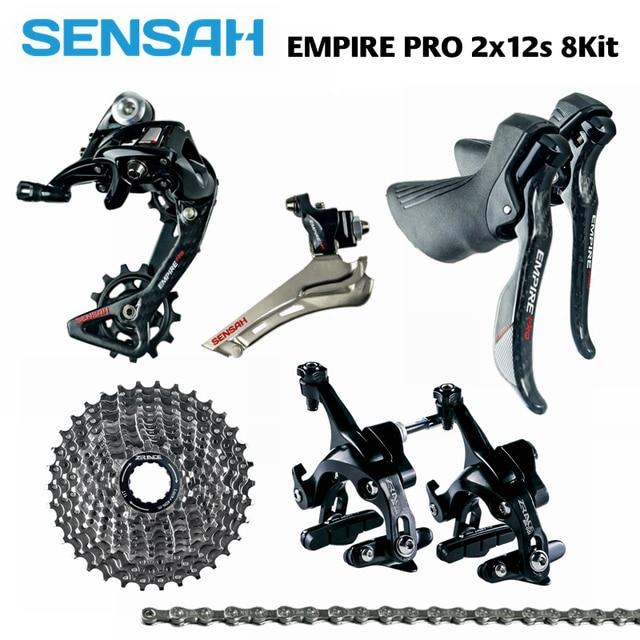 SENSAH EMPIRE PRO 2x12 Speed, 24s Road Groupset, R/L Shifter + R/F Derailleurs + ZRACE Cassette / Chains / Brake, carbon fiber