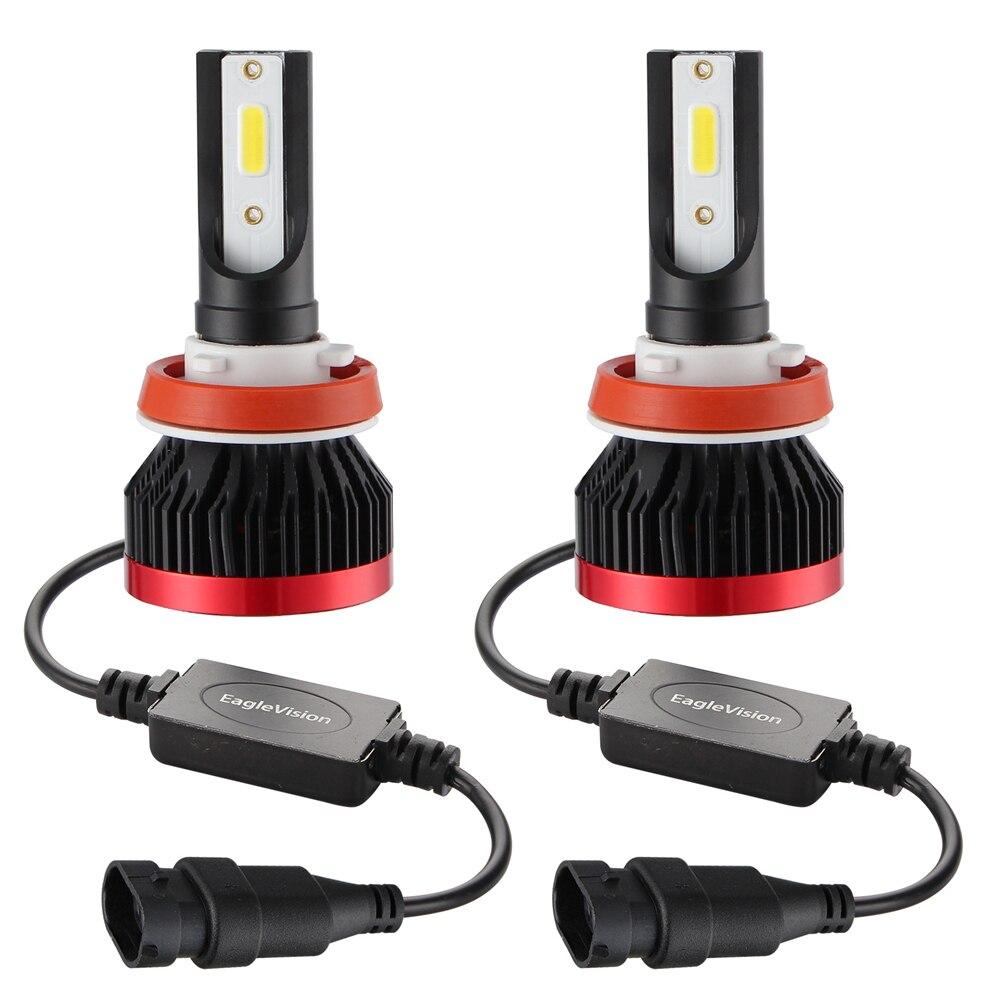2 sztuk Mini H7 ledowa żarówka do reflektorów 10000 lm/żarówka H4 LED 50W LED H11 H8 HB3 HB4 światła samochodowe DOB reflektor przeciwmgielne 12v 24v Car Styling