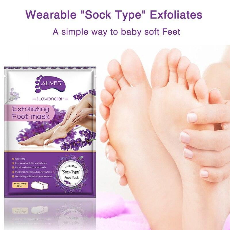 Алоэ пилинг маска для ног отшелушивающие носки для педикюра против трещин пятки удаление кожи патч для ног Случайная Доставка