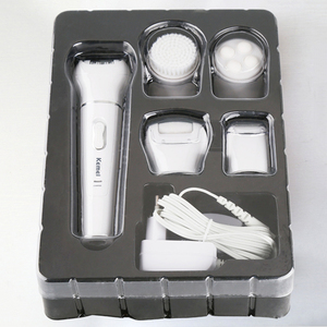 Image 5 - Kemei 5 ב 1 ביקיני שיער אפילציה לנשים ליידי מכונת גילוח חשמלי נקבה נטענת depilator שיער מסיר הסרת