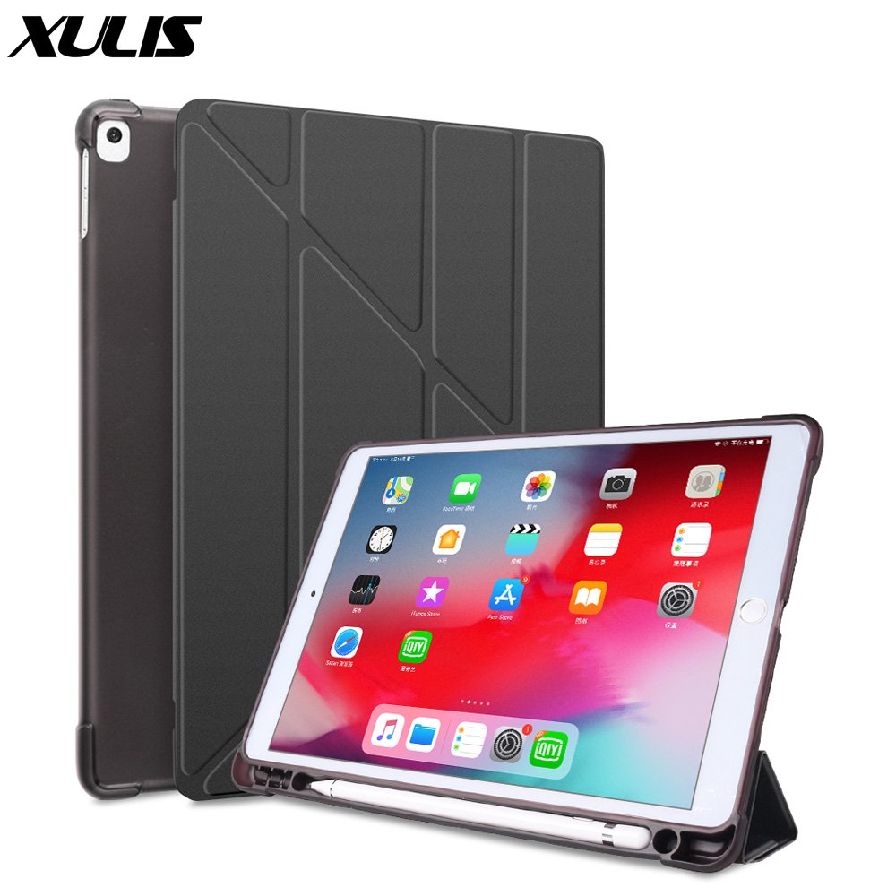 For iPad 10 2 2020 2019 Case A2197 A2270 PU Leather Silicone Smart Cover For iPad