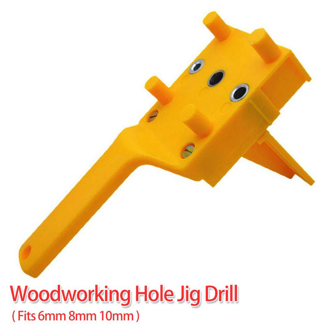 Hole Drill Guide Locator Jig 6/8/10mm Handheld Pocket Hole Jig Set Woodworking Dowel Self-Centering Puncher Doweling Jig