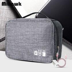 Mihawk à prova dwaterproof água sacos de viagem usb cabo tote fios disco rígido caso power bank organização do telefone móvel bolsa acessórios