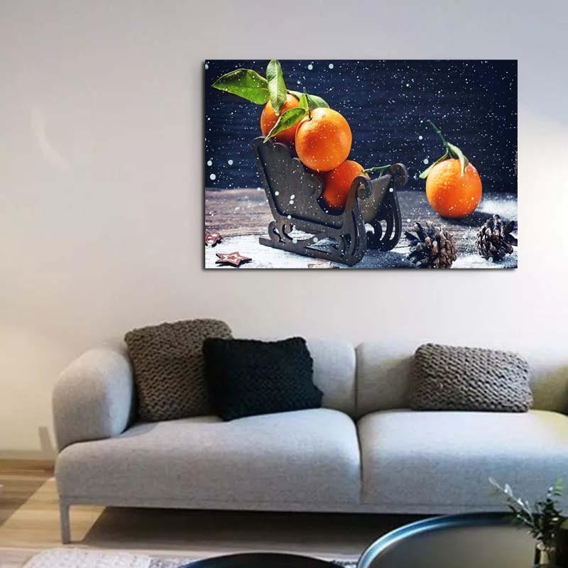 Orange Art Canvas Poster Realist Decorative Picture Painting Modern Wall Art Canvas Painting Home Decor Art Prints