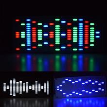 DIY Touch Key Big Size 225 Segment LED Digital Equalizer Music Spectrum Sound Waves Electronic Kit