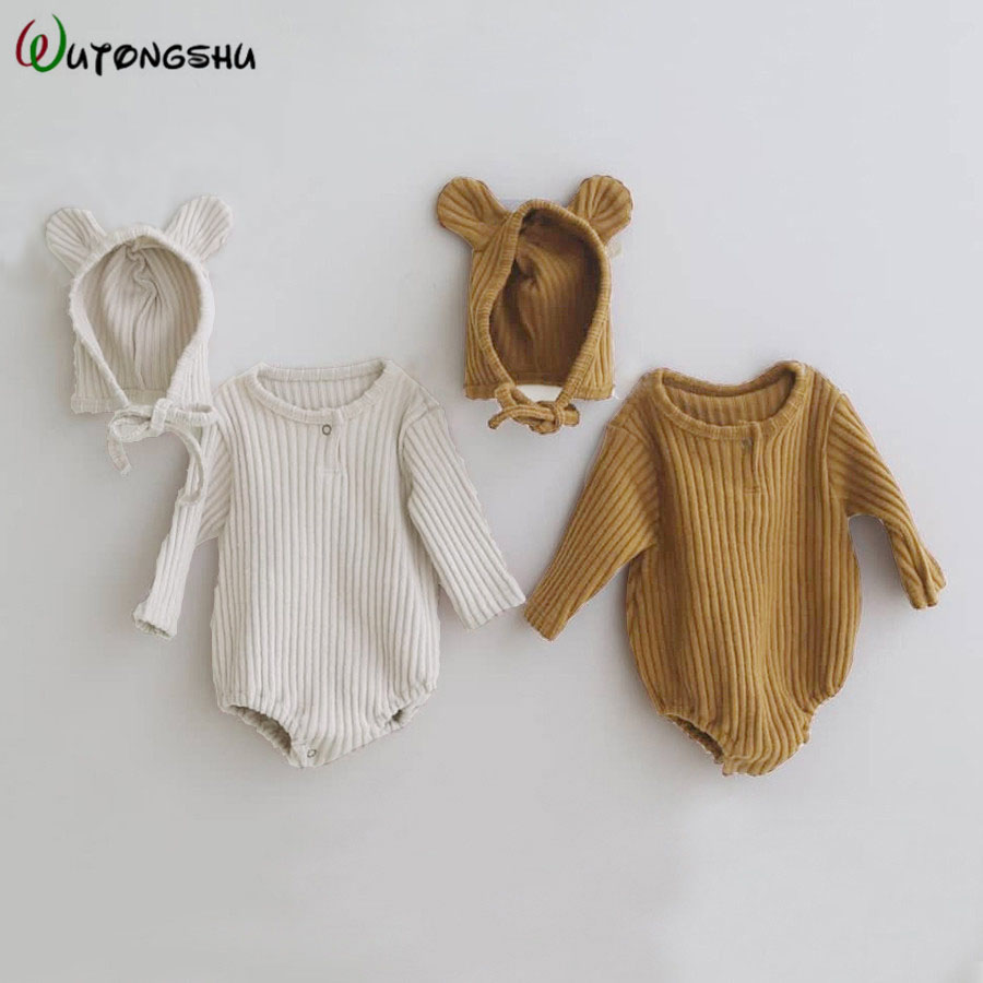 Infant Newborn Baby Boy Girls Bodysuit Spring Cotton Long Sleeves One-pieces Baby Boy Jumpsuits Cotton Baby Girl Clothes Outfits