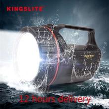 Cree XM-L2 holofote led recarregável anti-quebrado 500m polícia spotlight lanterna de emergência à prova dwaterproof água 18650 lanterna de acampamento