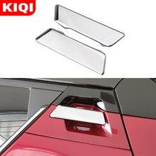 Kiqi estilo do carro porta traseira alça de proteção guarnição capa portas alça etiqueta para toyota C-HR chr 2016 - 2020 acessórios