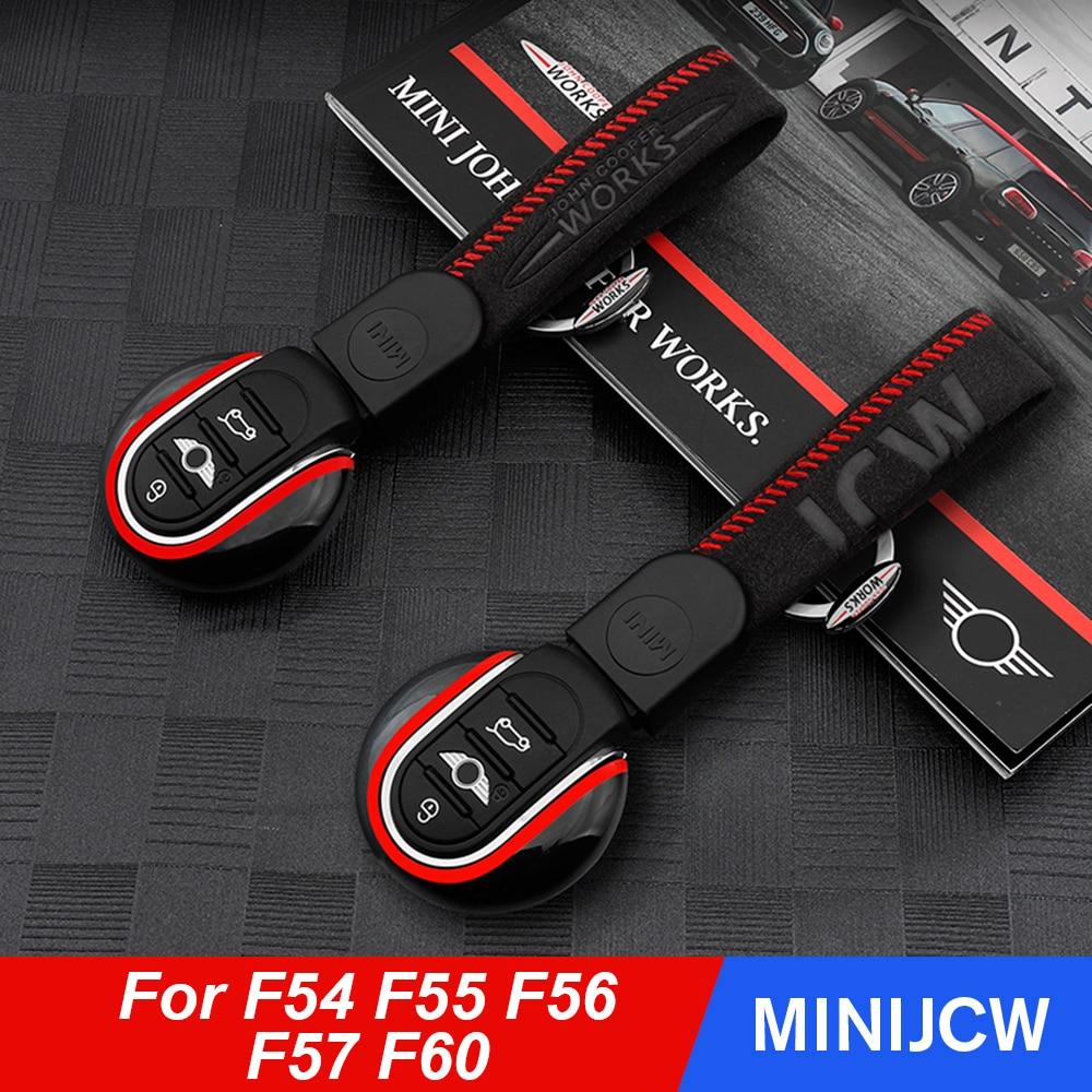 Voiture style clé housse porte-clés Union Jack clé protecteur décor pour BMW Mini Cooper JCW One D F54 F55 F56 F57 F60 Countryman